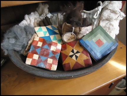 Saltdough quilt tiles