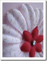 Pink Pirouette Scrapbook flower