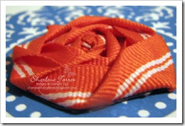ribbon flower close