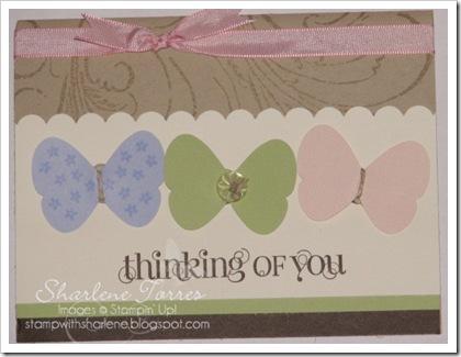 kim butterfly card