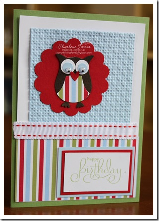 Owl boy birthday card