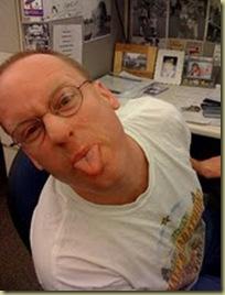 Joe sticking out tongue
