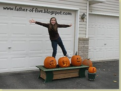 #4 of 5 helped FOF set up the pumpkins!