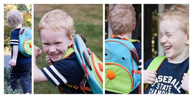 Alex and his new backpack
