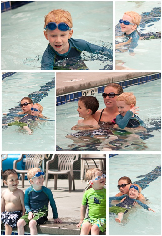 Alex swimming lessons 2010