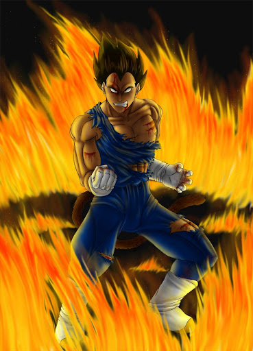 In the fire by Sajren91 Megapost   Imagenes de Dragon Ball   Parte 3   Vegeta