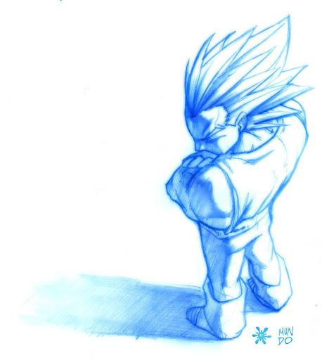 vegeta sketch by chilin Megapost   Imagenes de Dragon Ball   Parte 3   Vegeta