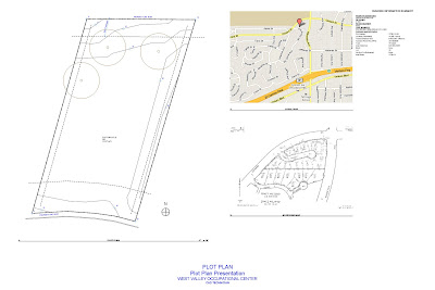 Part b existing site model layout presentation for Plot plan drawing