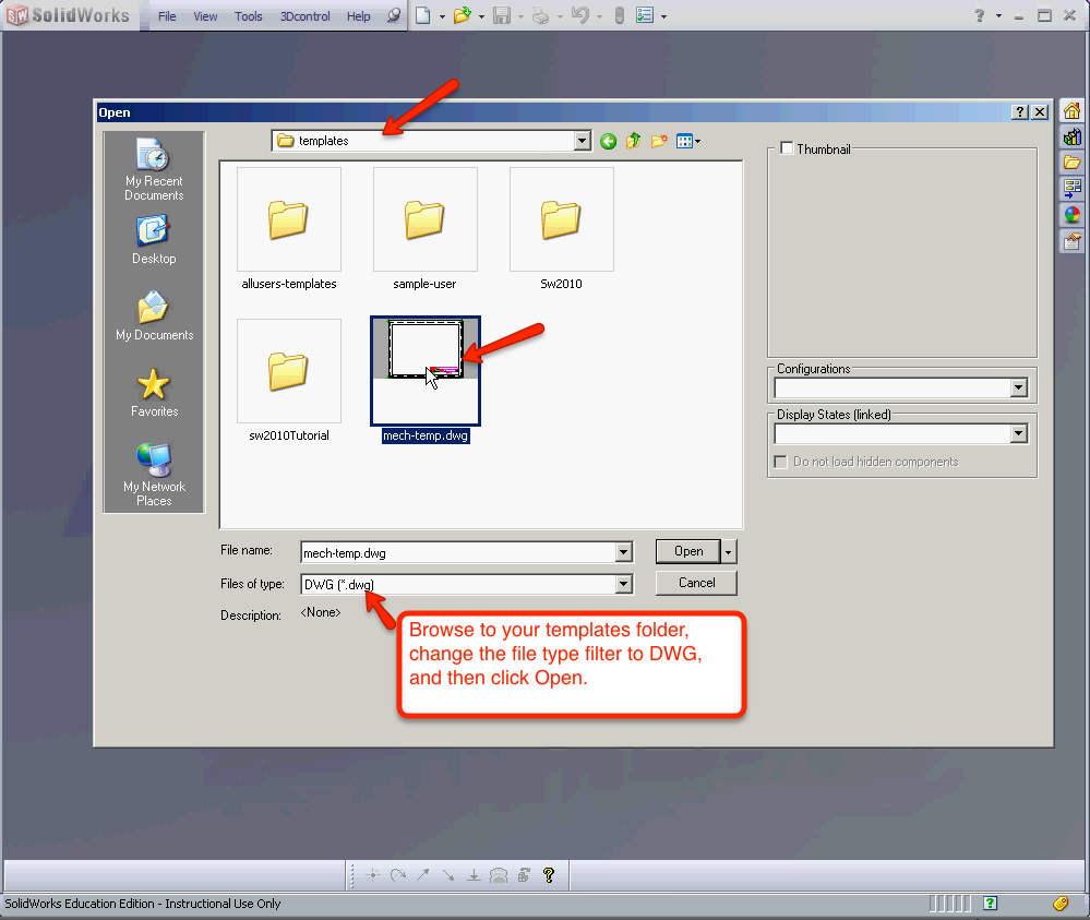 how to convert pdf to dwg in solidworks