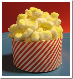 popcorn cupcake