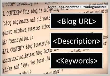 Online Free Meta Tag Generator ProBlogBooster