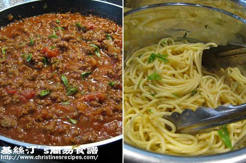 紅酒牛肉意大利粉製作圖 Spaghetti Bolognese Procedures