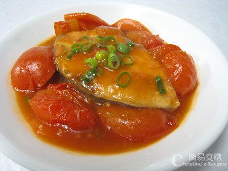 茄汁燴鮫魚 Fried Mackerel in Tomato Sauce