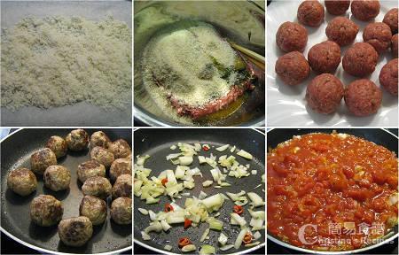 牛肉丸番茄汁製作圖 Meatballs and Tomato Sauce