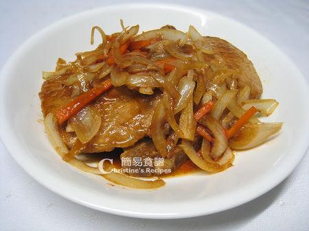 喼汁豬扒 Pan-fried Pork Chops in Worcestershire sauce