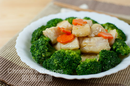Stir-fried Broccoli with Fish Fillet02