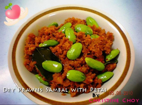 蝦米參巴Dry Prawn Sambal With Petai