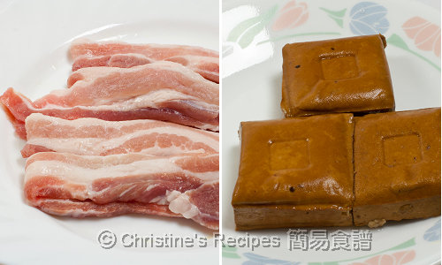 Pork belly and dried beancurd