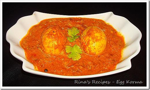 Egg Korma 1