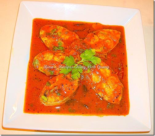 Rina 39 s recipes king fish gravy for King fish recipe
