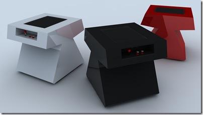 three stealth arcade tables