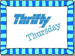 Thrifty Thursday Button with border thick