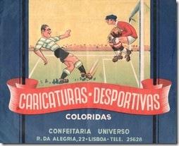 caricaturas desportivas coloridas capa