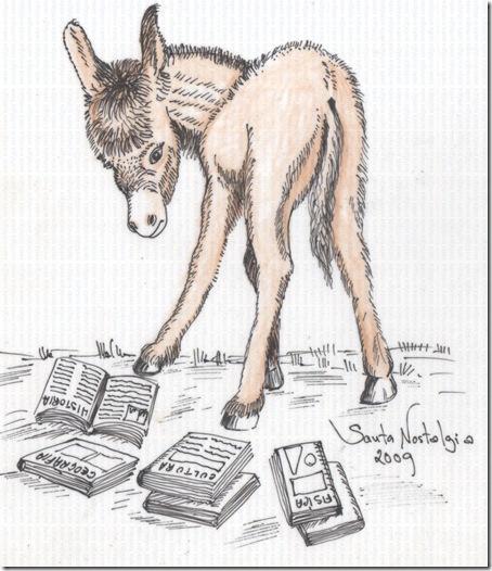 burro com livros burro carregado de livros burro doutor santa nostalgia