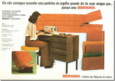 maquina de costura bernina santa nostalgia