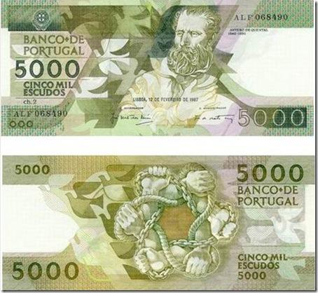 5000 escudos antero de quental santa nostalgia