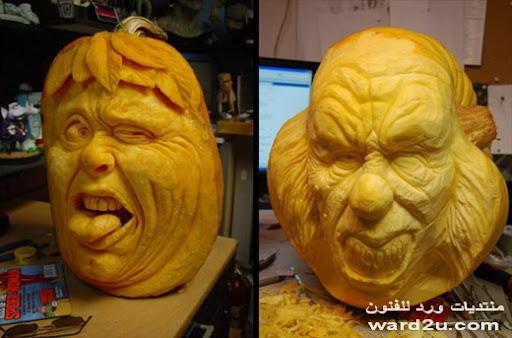 فن النحت على اليقطين pumpkin Sculpture