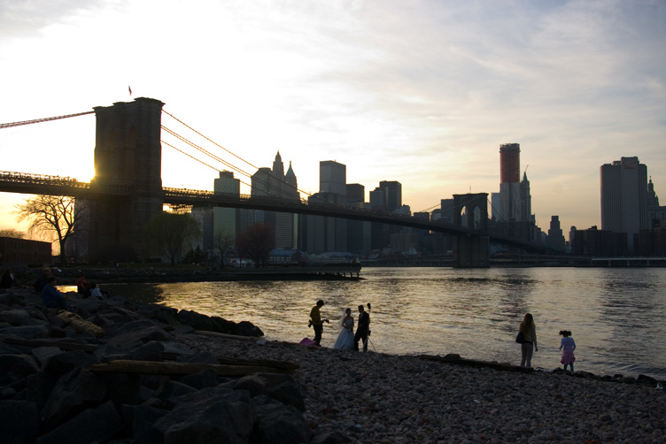 Brooklyn Bridge in the dusk