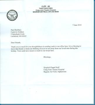 CFS Letter