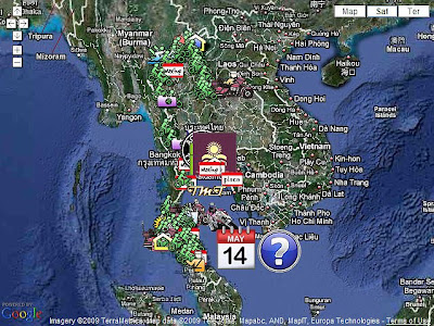 TMT's Motorcycle Tourist Maps placemark many of the Biker Events to help you find the location