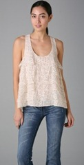 Patterson J. Kincaid Lace Tank by shopbop
