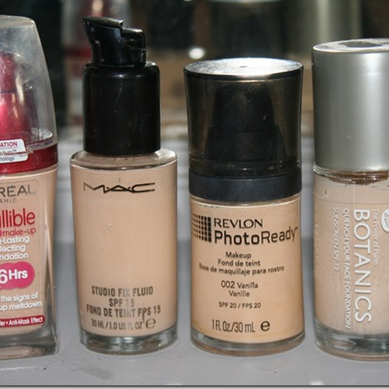 Foundations – Reviews, Swatches, Pale skin.