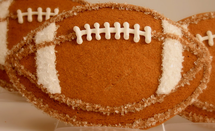 Chocolate Football Cookie