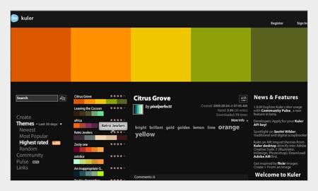 tips pemilihan warna untuk desain grafis menggunakan adobe kuler