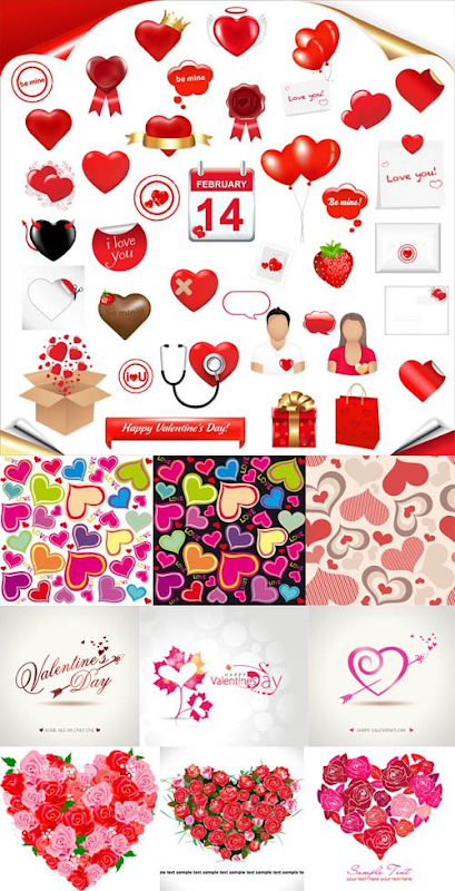 Free Download Valentine's Day Heart Pack