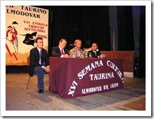 Imagen de archivo de una de las citas culturales de noviembre del Club Taurino en el Teatro Municipal.