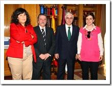 de izquierda a derecha, Almudena Correal, Vicente de Gregorio, José María Barreda y Beatriz Calvo, en su reciente reunión en Toledo.