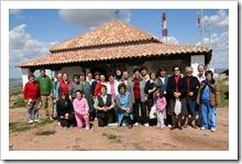 Grupo de personas que esta semana ha adecentado el entorno de la ermita de Santa Brígida.