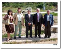 El director general de la Presidencia de Castilla-La Mancha, Luis Miguel Maza, durante su visita a la pedanía La Viñuela de Almodóvar del Campo.