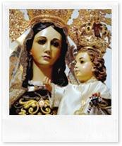 Imagen de la patrona que ilustra el cartel de actividades confeccionado este año por la Hermandad de la Virgen del Carmen.
