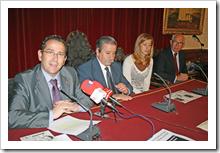 De izquierda a derecha, Luis Díaz-Cacho, Vicente de Gregorio, Marta Sendarrubias y Miguel Ángel Martínez.