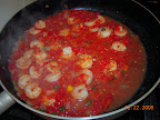 Quick tomato-caper sauce with shrimp.