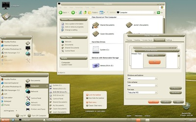 aesVS_v1_0,windows,vista,themes download,visual styles,xp佈景主題教學下載,桌面改造