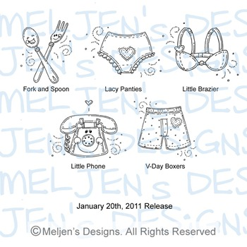 Meljens Designs January 20th Release Display