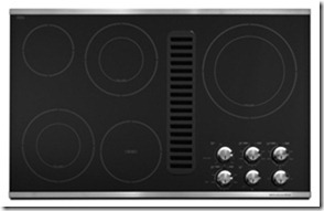 cooktop with downdraft