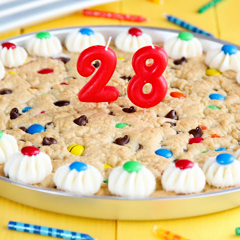 M&M Chocolate Chip Cookie Cake